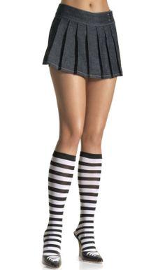 063ada92150b5 LA5577 Leg Avenue Stripe Knee-Hi socks available at Hot Legs USA! Knee Highs