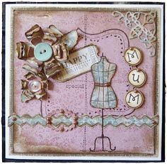 Crafty Lou's Small World.: Mum loves pink..