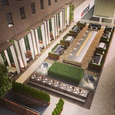 Our Sheraton hotel pool rendering in Downtown L.A design by Sheraton Downtown, Downtown Hotels, Landscape Sketch, Landscape Architecture, Outdoor Restaurant, Hotel Pool, Sanya, Hotel Lobby, Outdoor Landscaping