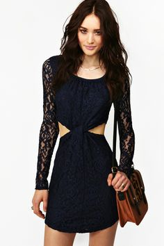 Knotted Lace Dress in Clothes at Nasty Gal