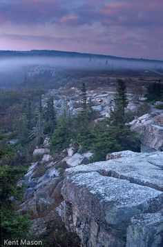 Bear Rocks in Grant County, West Virginia, USA