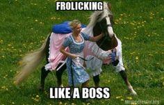 Frolicking like a boss.