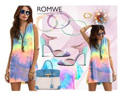 """""""Romwe"""" by vaslida ❤ liked on Polyvore featuring Boutique Moschino and Hermès"""
