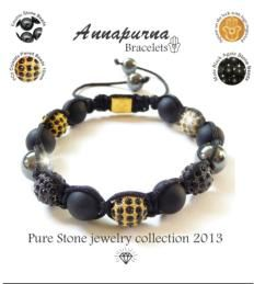 Shamballa bracelets Annapurna Pure Stone Jewellery Collection