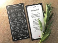 """Einladungskarte """"Vintage Chalkboard"""" Nostalgisch zur Hochzeit Invitation Text, Invitations, Change Request, School Tables, Vintage Chalkboard, Print Release, Custom Buttons, Typographic Design, How To Apply"""
