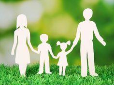 Een kerngezin dat bestaat uit een vader,moeder en hun kinderen.