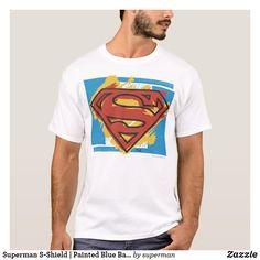 Superman T Shirt, Superman Logo, Superhero Gifts, Symbol Design, Blue Backgrounds, Fitness Models, Unisex, Casual, Sleeves