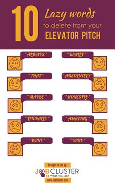 10 Lazy Words to Delete from Your elevator Pitch