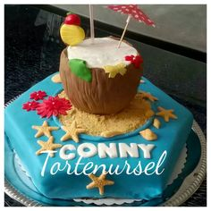 Sommerliche Geburtstagstorte Birthday Cake, Desserts, Food, Birthday Cake Toppers, Pies, Tailgate Desserts, Birthday Cakes, Meal, Dessert