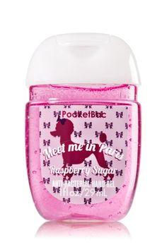 """Bath & Body Works """"Meet me in Paris"""" French Poodle Pocketbac - Raspberrry Sugar scented Bath & Body Works Oval Antibacterial Hand Sanitizer Gel Bath N Body Works, Body Wash, Bath And Body, Scented Hand Sanitizer, Perfume, Hand Cream, Body Spray, Smell Good, Shower Gel"""