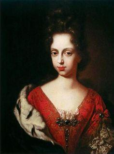 Anton Domenico Gabbiani:Portrait of Anna Maria Luisa de' Medici as a Young Woman