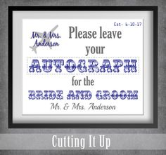 Airplane Wedding Guest Book Sign, Travel Wedding Sign, Airport Theme, Travel Theme, Destination Wedding, Autograph Sign, Guest Book Sign by CuttingItUp