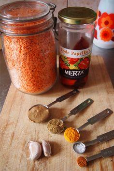 Rode linzen hummus | De Groene Meisjes