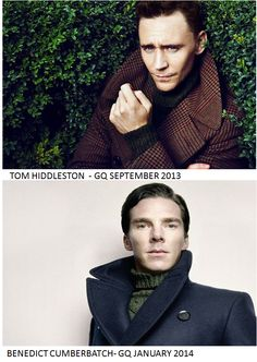 British men looking all mysterious with their cheekbones and collars turned up!
