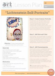 Lichtenstein Self-Portraits: Free Lesson Plan Download