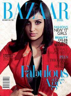 Parineeti Chopra On The Cover of Harper's Bazaar Magazine India July 2012. | Bollywood Cleavage
