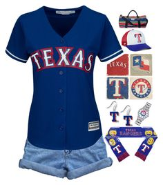 """""""Texas Rangers"""" by abby-aqua ❤ liked on Polyvore featuring Bill Blass, Majestic, Forever Collectibles, aminco, Game Time, '47 Brand and Studio Vertu"""