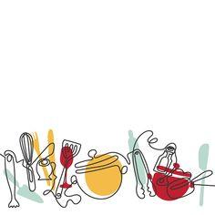 Single line illustrations Line Illustration, Graphic Design Illustration, Baking Logo Design, Dessert Logo, Catering Logo, Catalogue Layout, Single Line Drawing, Abstract Iphone Wallpaper, Logo Samples