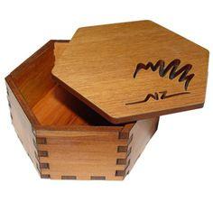 Wooden Hexagonal Box - Trinket Box - New Zealand Kiwi | Shop New Zealand NZ$35.90
