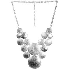 Diamond Dust Statement Necklace ($11) ❤ liked on Polyvore