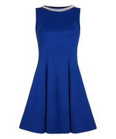 Look what I found on #zulily! Blue Fit & Flare Dress by Iska London #zulilyfinds