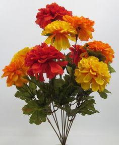 silk marigolds