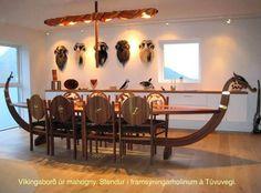 Viking ship style table