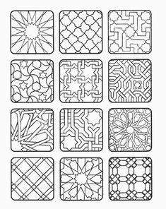 New Geometric Art Diy Canvas Colour 42 Ideas Geometric Patterns, Geometric Designs, Tile Patterns, Geometric Art, Pattern Art, Canvas Patterns, Islamic Art Pattern, Arabic Pattern, Diy Canvas