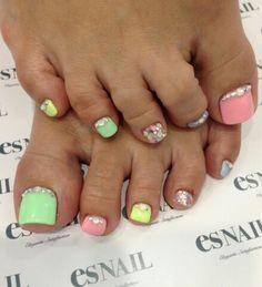 Toes nail art by es nail