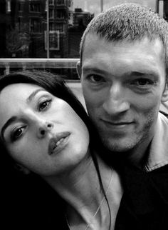 Monica Bellucci & Vincent Cassel. Vincent is a lucky guy, but so is Monica. Vincent is a fantastically charismatic and talented French actor. [what?! I just found out they're separated. Shame.]
