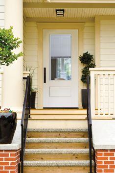 3/4 Lite with Miniblind 1 Panel Fiberglass Door