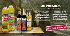 ¡LA MASÍA regala 40 LOTES de 2 BOTELLAS de Aceite de Oliva: VIRGEN COOPERATIVA y VIRGEN EXTRA EXCELENCIA, y TRES BOTELLAS de VINAGRES YBARRA!