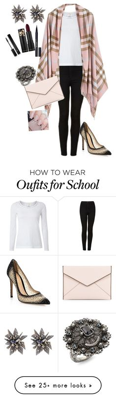 """""""Untitled #195"""" by dorina-mikes on Polyvore featuring Gianvito Rossi, Topshop, White Stuff, Rebecca Minkoff, Alexis Bittar, Alexander McQueen, Stila and Forever 21"""