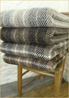 Natural British Wool Plaid & Throws