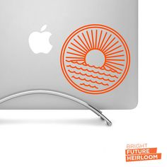 Sun and Waves Badge - Cut Vinyl Decal - Perfect for laptops tablets cars trucks and more! by BrightFutureHeirloom