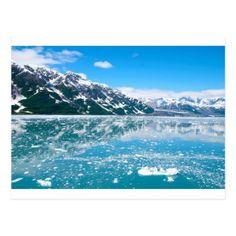Abstract blue mountains landscape ice Alaska Postcard - merry christmas postcards postal family xmas card holidays diy personalize