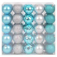 50Ct Ornament Set - Blue/Silver $13.50
