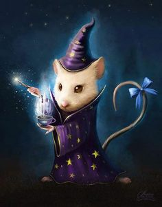 Funny mouse wizard.