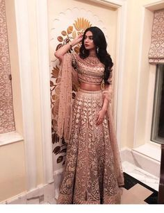 bollywood fashion Janhvi Kapoor / Khushi Kapoor on - Indian Lehenga, Indian Gowns, Indian Attire, Indian Ethnic Wear, Pakistani Dresses, Lehenga Choli, Anarkali, Pakistani Bridal, Pakistani Suits
