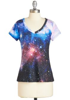 Believe It or Astronaut Tee. You'll feel on top of the world when you wear this cosmic tee! #multi #modcloth