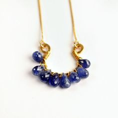 Great sapphire briolette necklace!