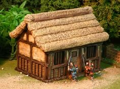 Samurai house Samurai, Japanese Buildings, Dungeon Tiles, Shuriken, D&d Dungeons And Dragons, Fantasy Places, Painting Services, Asian History, Japanese Models