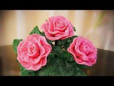 Beaded rose MC | Роза из бисера МК | Цветы из бисера МК - YouTube