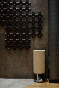 Marble, stone, terracota, steel wool and composite speakers