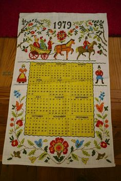 Love these things: Woven Linen Calendar Wall Hanging Tea Towel 1970s Childhood, Childhood Memories, School Memories, Vintage Calendar, Ol Days, Sweet Memories, The Good Old Days, Vintage Toys, Tea Towels