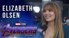 Elizabeth Olsen on Scarlet Witch and Vision LIVE at the Avengers: Endgame  Premiere