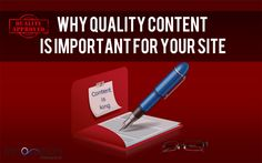 Why Quality Content Is Important For Your Site: http://www.innovazioninteractive.com/blog/why-quality-content-is-important-for-your-site/