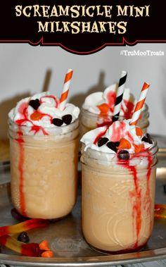 Screamsicle Mini Milkshakes Recipe #TruMooTreats #ad