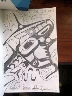 Experieiment formline sketches Tlingit Robert Davis Hoffmann