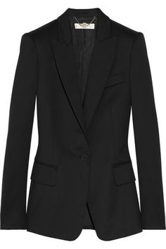 STELLA MCCARTNEY Iris wool-twill blazer with peaked lapels.
